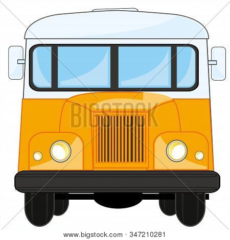 Vector Illustration Transport Retro Bus Type Frontal