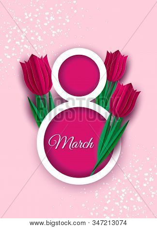 International women's day poster holiday. 8 number 3d illustration holiday. Happy Mothers Day holiday. Eps10 vector illustration. 8 march, womans day, women's day background, women's day banners, women's day flyer, womens day design, womens day with flowe