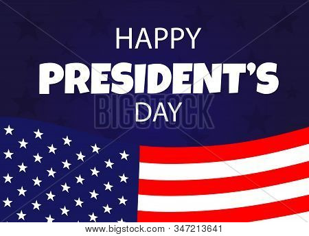 President's Day background, President's Day banners, american flyer, Presidents Day design, President's Day flag on background, vector illustration.