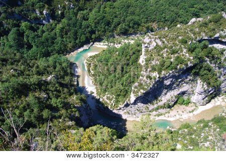 Small River In The Gorge Du Verdon