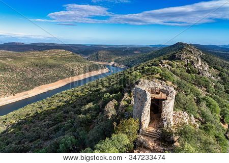 Castle Of The Monfrague National Park In The Province Of Caceres In Extremadura Spain.