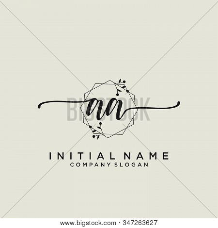 Aa Letter Initial Beauty Monogram And Elegant Logo Design, Handwriting Logo Of Initial Signature, We