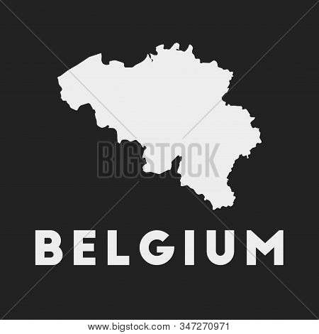 Belgium Icon. Country Map On Dark Background. Stylish Belgium Map With Country Name. Vector Illustra