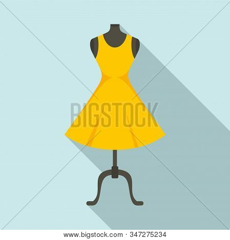 Fashion Mannequin Icon. Flat Illustration Of Fashion Mannequin Vector Icon For Web Design