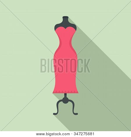 Store Dress Mannequin Icon. Flat Illustration Of Store Dress Mannequin Vector Icon For Web Design