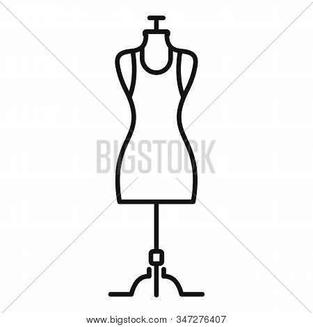 Fashion Mannequin Icon. Outline Fashion Mannequin Vector Icon For Web Design Isolated On White Backg