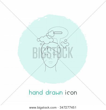 Think Negative Icon Line Element. Vector Illustration Of Think Negative Icon Line Isolated On Clean