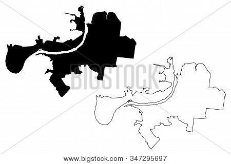 Perm City (russian Federation, Russia) Map Vector Illustration, Scribble Sketch City Of Perm (moloto