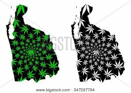 North Western Province (democratic Socialist Republic Of Sri Lanka, Ceylon) Map Is Designed Cannabis