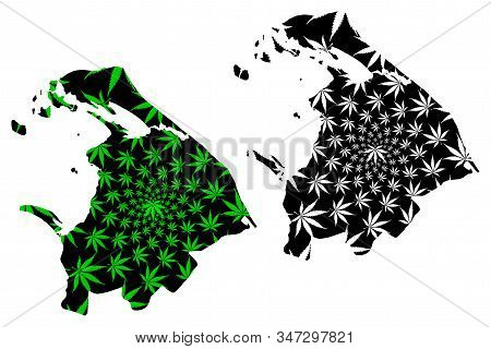 Northern Province (democratic Socialist Republic Of Sri Lanka, Ceylon) Map Is Designed Cannabis Leaf