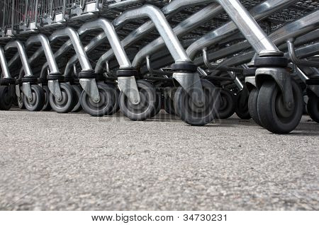 Shopping cart wheels