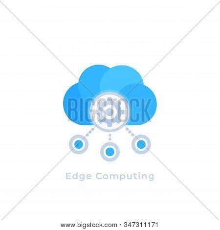 Edge Computing Vector Icon, Eps 10 File, Easy To Edit