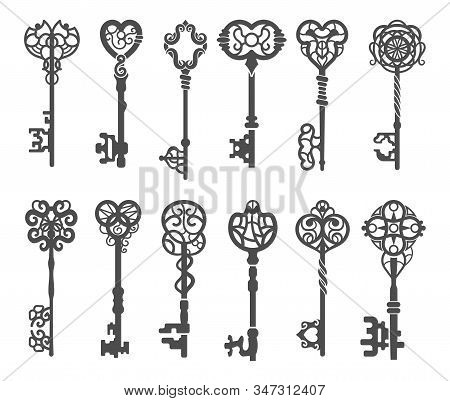 Vintage Key Silhouette Or Victorian Skeleton Key