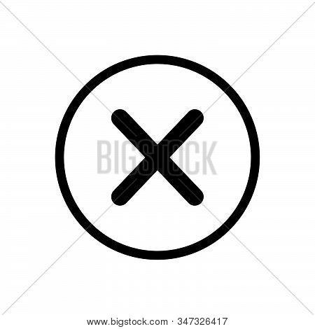 Close Button Icon Isolated On White Background. Close Button Icon In Trendy Design Style. Close Butt