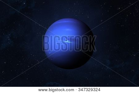 View Of Planet Neptune From Space. Space, Nebula And Planet Neptune. This Image Elements Furnished B