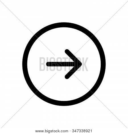 Next Button Icon Isolated On White Background. Next Button Icon In Trendy Design Style. Next Button