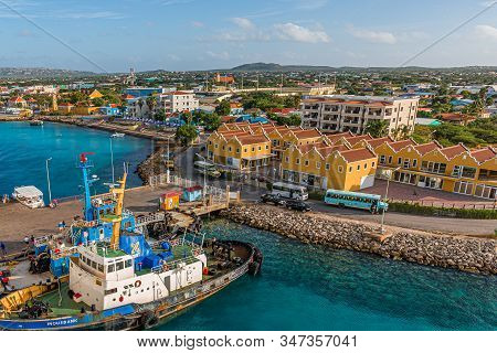 Kralendijk, Bonaire- December 4, 2017: Being South Of The Hurricane Belt And Because Of The Constant