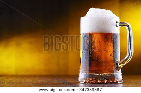 Composition With Glass Of Draught Beer