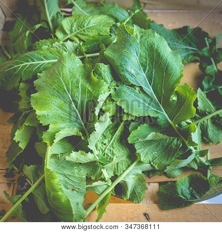 Nabicas Leaf - Traditional Portuguese Cabbage In A Wooden Crate
