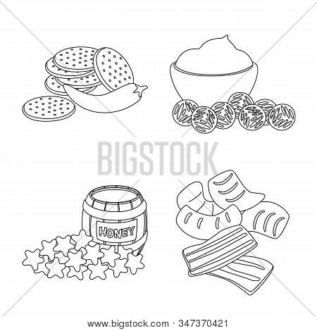 Vector Design Of Taste And Crunchy Symbol. Set Of Taste And Cooking Stock Symbol For Web.