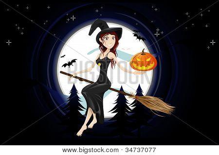 Halloween Night Witch