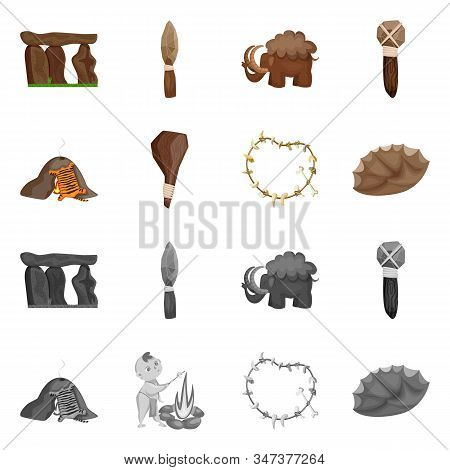 Isolated Object Of Evolution And Prehistory Icon. Collection Of Evolution And Development Stock Symb