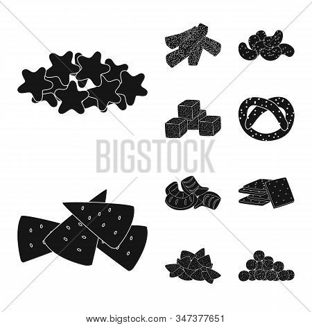 Isolated Object Of Party And Cooking Sign. Collection Of Party And Crunchy Vector Icon For Stock.