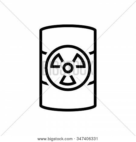 Black Line Icon For Hazardous-waste Hazardous Waste Dangerous Perilous Parlous Emergency