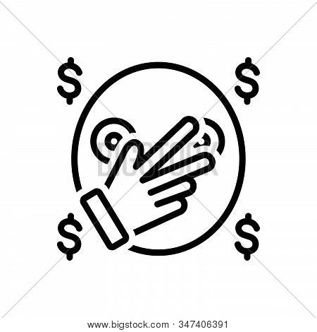 Black Line Icon For Notorious Gangster Loot Cash Wage Thief Robber