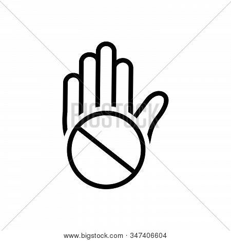Black Line Icon For Objection Convulsions Exception Slander Exclusion Denigration Mudslinging