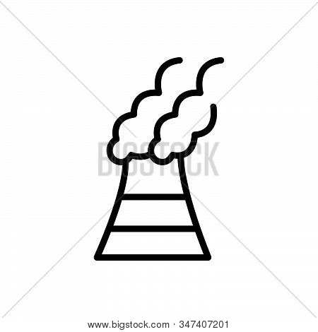 Black Line Icon For Pollutants Pollutant Polluted Toxic Environmental Harmful Chemicals Factory Poll