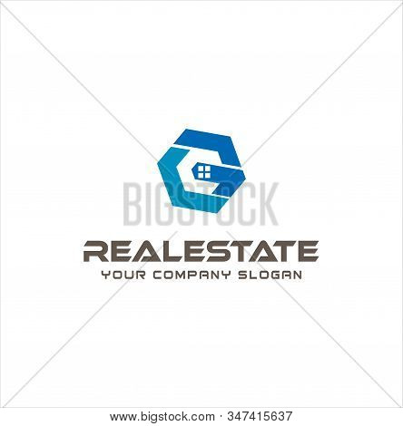 Letter G C Cg Real Estate Logo Design . Initial G C Cg Home Logo