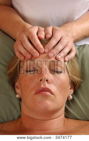 Massaging Head At Wellness Center