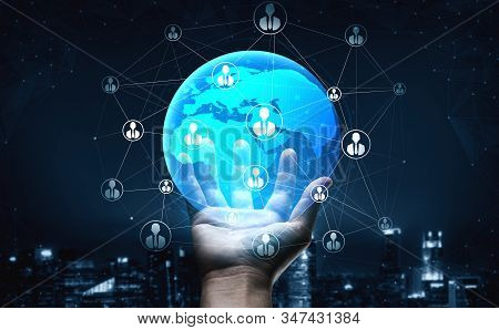 People Network And Global Communication Concept