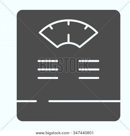 Floor Scales Solid Icon. Bathroom Scales Vector Illustration Isolated On White. Weighing-machine Gly