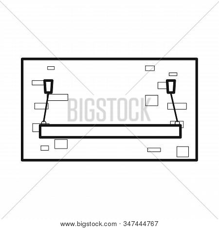 Vector Illustration Of Plank-bed And Bed Sign. Web Element Of Plank-bed And Bunk Stock Symbol For We