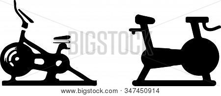 Stationary Bike Icon Isolated On Background , Sport, Sportive, Stationary