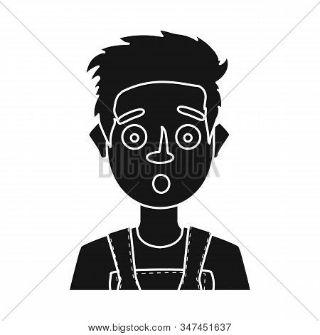 Isolated Object Of Guy And Fright Symbol. Set Of Guy And Surprise Stock Vector Illustration.