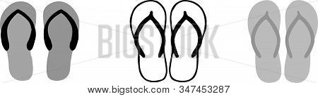 Slippers Icon Isolated On Background , Toilet Shoes, Toilet Slipper, Toilet