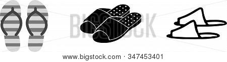 Slippers Icon Isolated On Background  Vector, Wear, Wet Slipper
