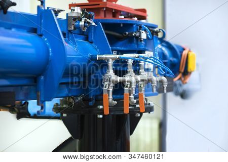 Ball Valve On The Water Pipe. Gate Valve. Control Valve. Shutoff Fittings. Regulation Of Water Flow.