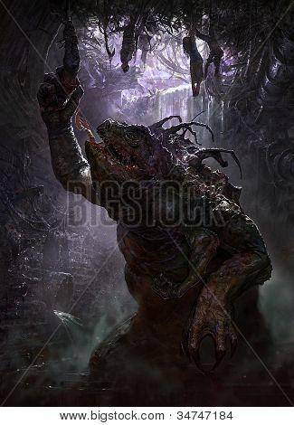 Sewer dwelling swamp monster