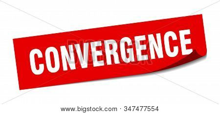 Convergence Sticker. Convergence Square Sign. Convergence. Peeler