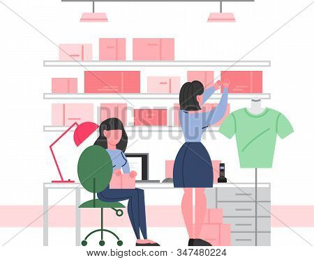 Clothing Store Interior. Utility Room In A Fashion Boutique.