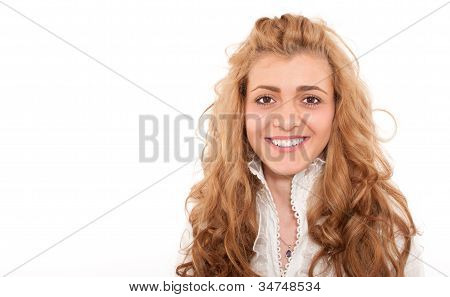 Close-up Of Young Business Woman