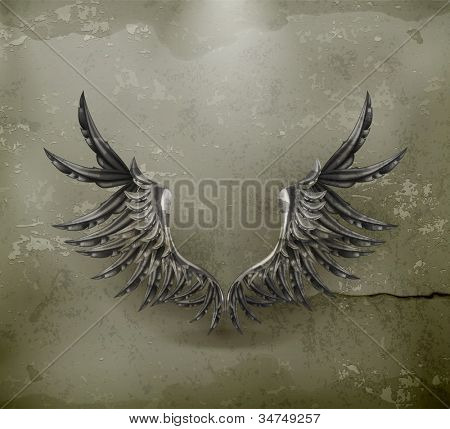 Black wings, old-style vector