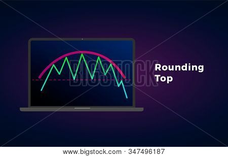 Rounding Top Pattern - Bearish Formation Figure, Chart Technical Analysis. Vector Stock, Cryptocurre