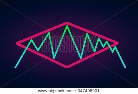 Diamond Pattern - Bearish Formation Continuation Figure, Chart Technical Analysis. Vector Stock, Cry