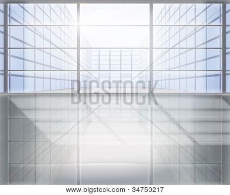 Business center. Vector illustration.