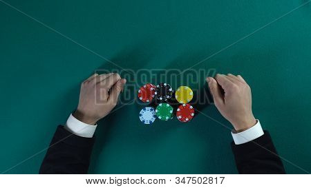 Risky Poker Player Winning All Money And Opponents Business Project, Gambling